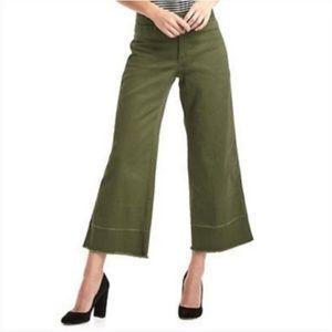 GAP Wide Leg High Rise Olive Green Jeans